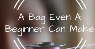 Think you can't sew? Think again. A Rag Quilt Bag Tutorial.
