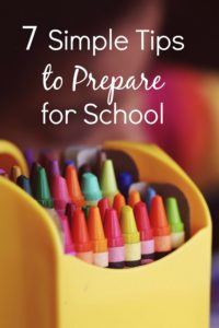 7 Steps to Prepare for School