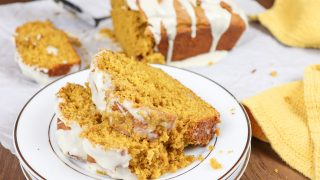Pumpkin Bread with Maple Cream Icing