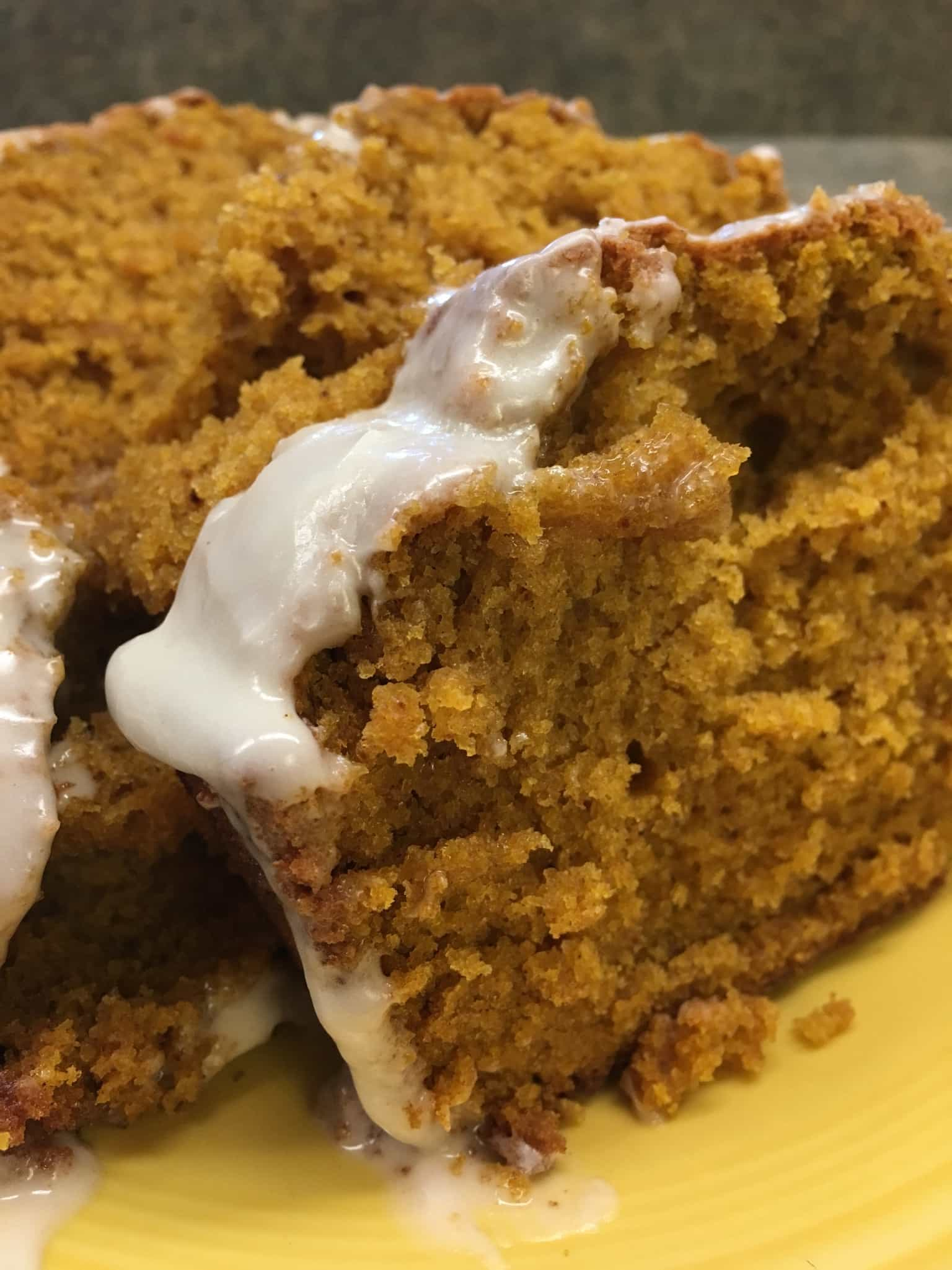 Pumpkin spice bread is a wonderful treat around the holidays.