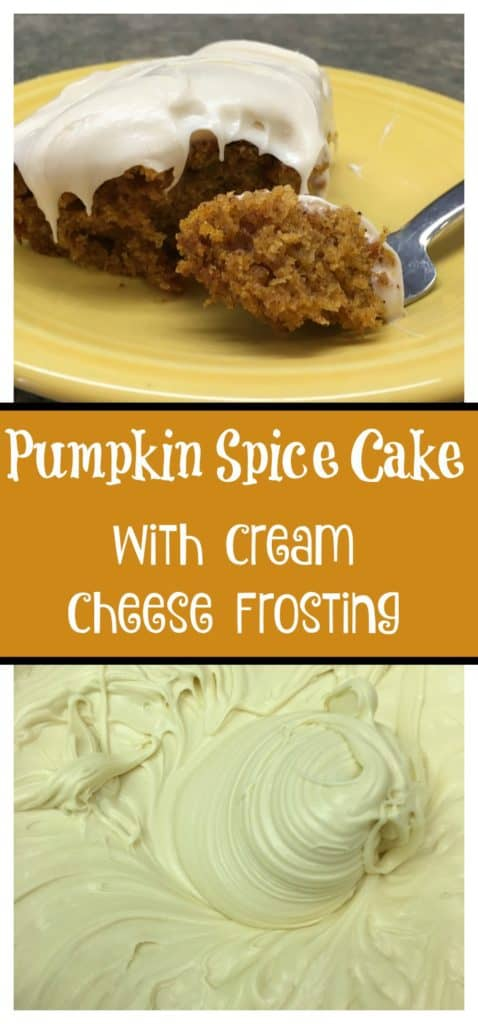 This is an easy recipe for a pumpkin spice cake with cream cheese frosting. It's moist, and decadent. You will be the hit of the party. It's a cake that is a great addition to all of your pumpkin recipes this fall.