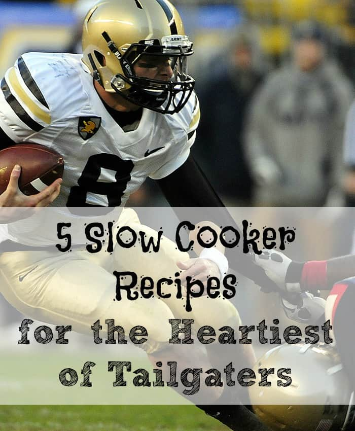 Click on the link to get five slow cooker recipes that will help you get ready for tailgating. The recipes include five meals that will fill up any football fan, and keep them warm during the football games. You will be the hit of the tailgating party with these recipes. They are easy enough to throw in the cooker and forget all about them until they are ready to dish-up and serve.
