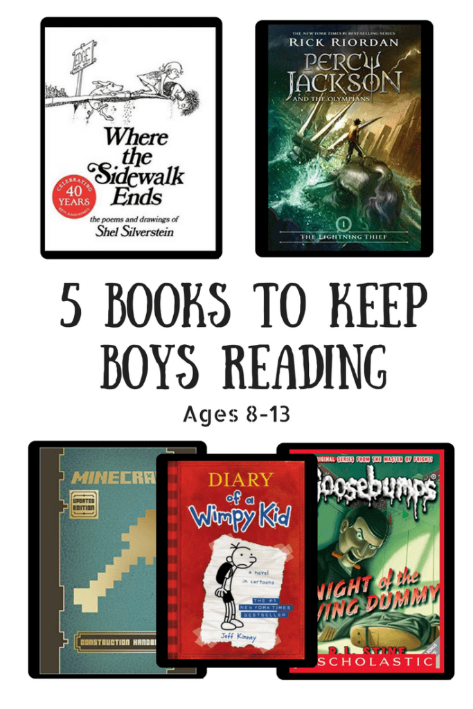 5 books to keep boys reading ages 8-13
