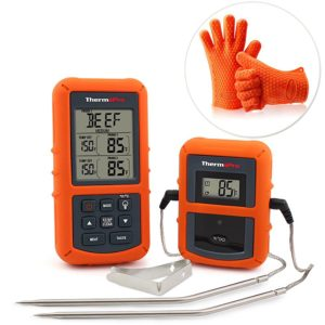 Temperature probe for Thanksgiving turkey, barbecue, or oven.