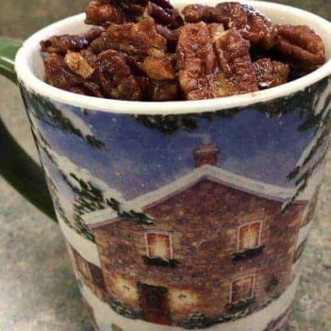 Candied pecans stovetop