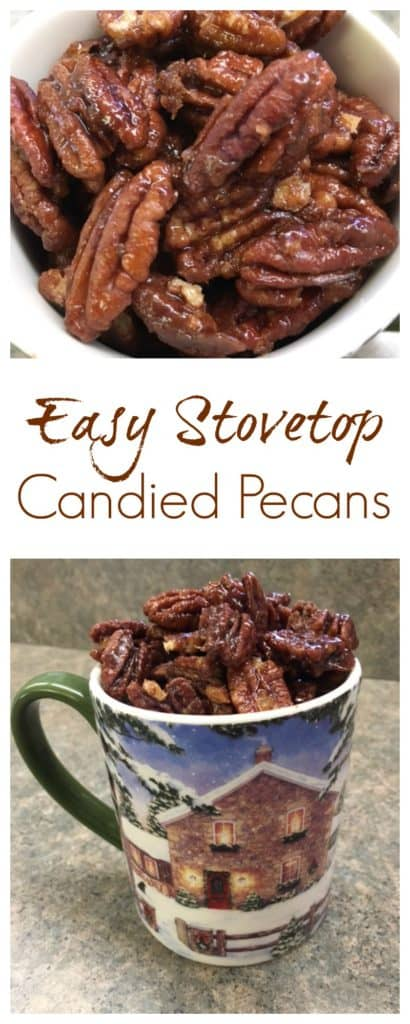 Easy Stovetop Candied Pecans