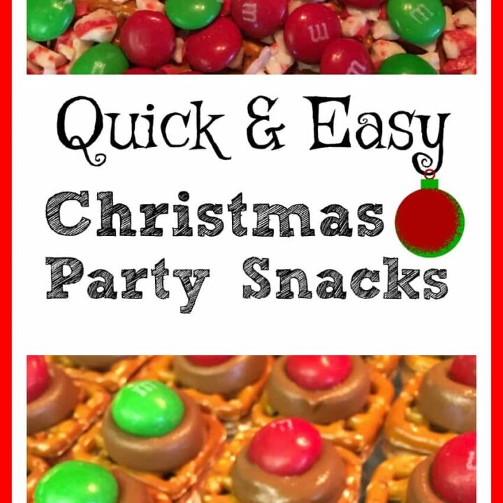 If you're looking for a quick and easy treat to make for your next holiday party, this is the way to go. pretzels, Rolo's, M&M's, and Ande's Mints are all you need to make a couple of trays full of a salty sweet treat.