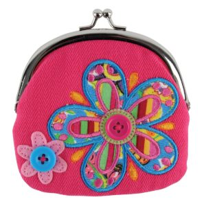 Stephen Joseph Flower Signature Coin Plush Purse makes a great stocking stuffer or gift for girls