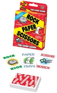 Rock Paper Scissors game makes a great stocking stuffer for any kid.