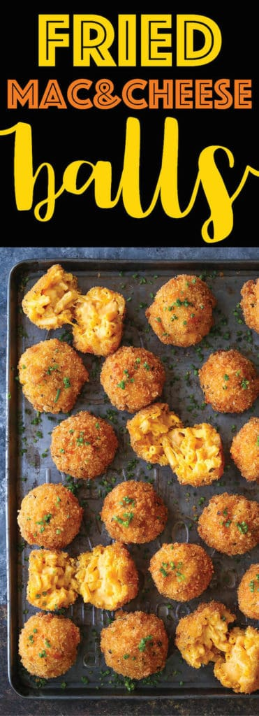 Damn Delicious - Fried Mac and Cheese Balls