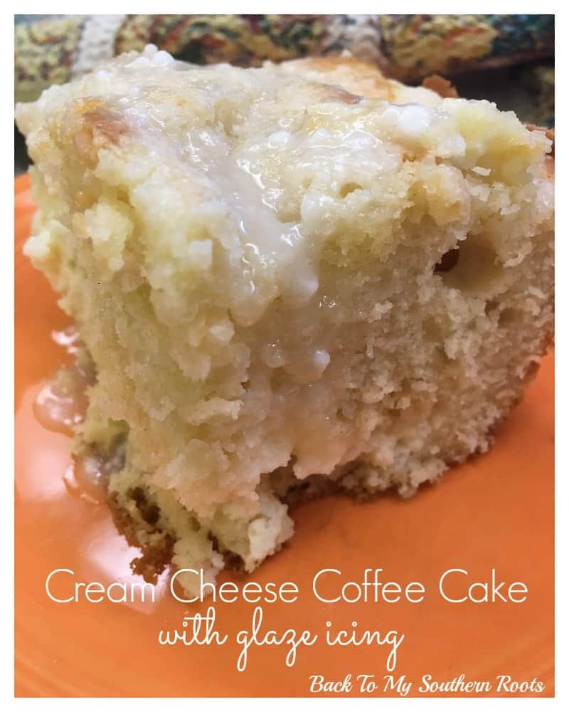 Cream Cheese Coffee Cake With Glaze Icing Back To My Southern Roots