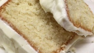 Pound Cake with a Cream Cheese Frosting