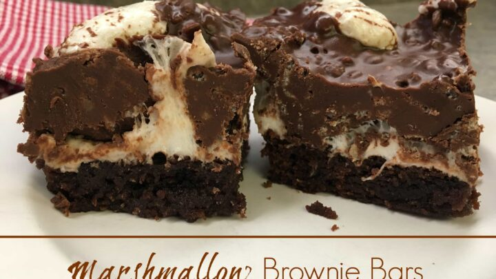Marshmallow Brownie Bars are so easy to make. The chocolatey chewy combination tastes amazing. Try making these for your next party.