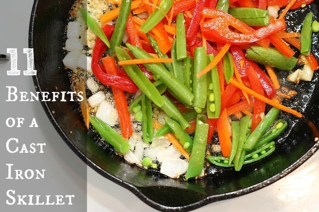 Do you want to know some of the benefits of a cast iron skillet? Click on the pin and find out some great perks of using a cast iron skillet. You might be surprised at how it can help not only your cooking but your health.
