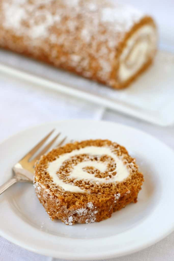 Classic Pumpkin Roll - Mom Loves Baking