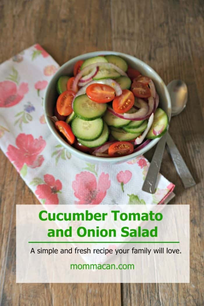 Cucumber Tomato Onion Salad - Mommacan.com