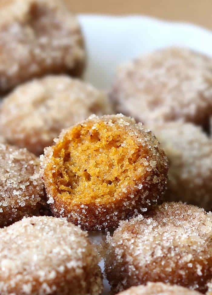 Baked Pumpkin Donut Holes - Cakes Cottage