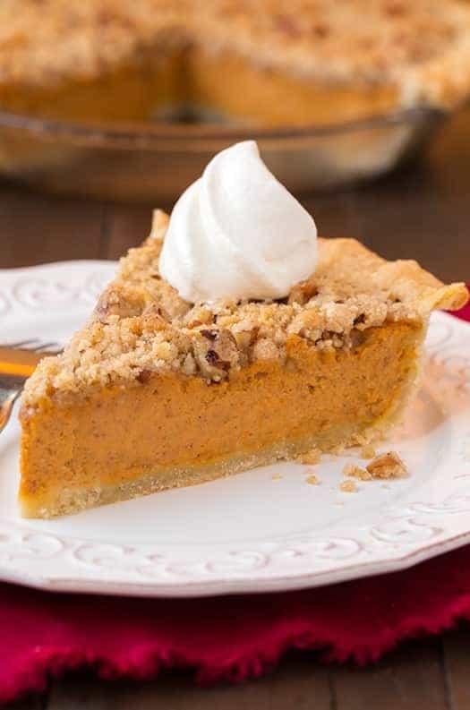 Streusel Pumpkin Pie - Cooking Classy