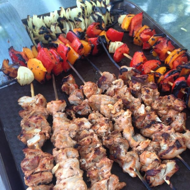 Yogurt Marinated Chicken Kebabs - from Aluminum Foiled Kitchen