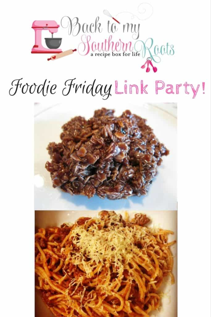 Foodie Friday Link Party #4 - Come leave a link to your favorite recipes.
