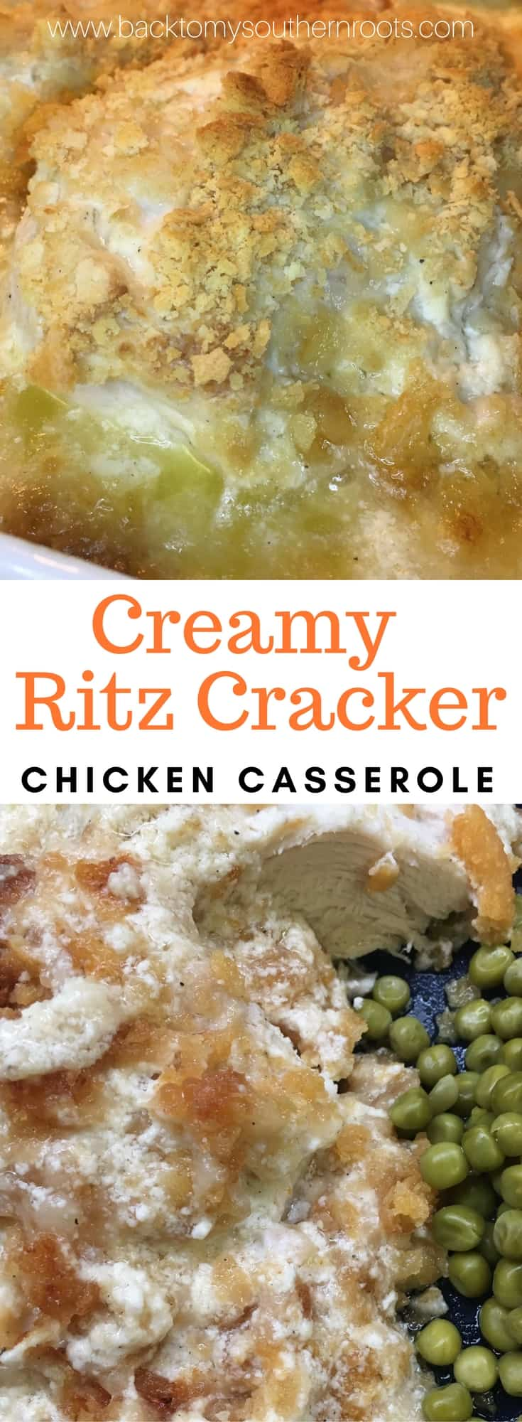 Creamy Ritz Cracker Chicken Casserole might be one of the easiest meals I've ever fixed. And, it has ingredients that I love--sour cream, butter, and Ritz Crackers.