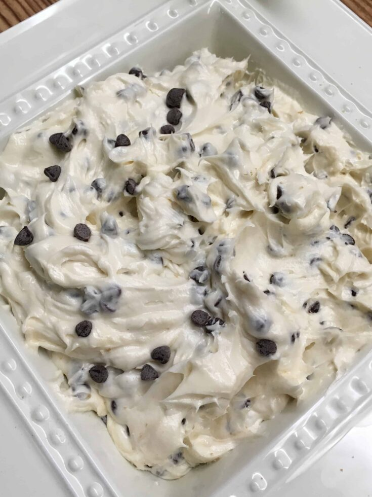 Easy and Creamy Chocolate Chip Party Dip Recipe is easy as pie to make. It is one of the best Christmas holiday recipes. You're sure to be a hit at the party.
