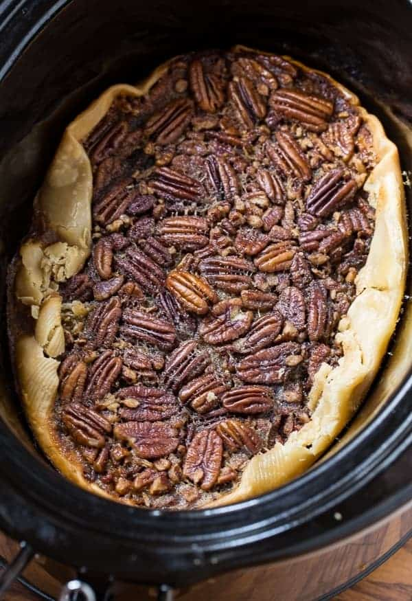 Crock Pot Pecan Pie - Spicy Southern Kitchen