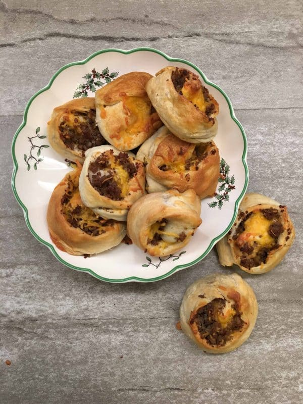 Easy Sausage Crescent Rolls are a great breakfast treat for guests. You can make the sausage crescent rolls ahead of time, freeze them, and eat them when you're ready.