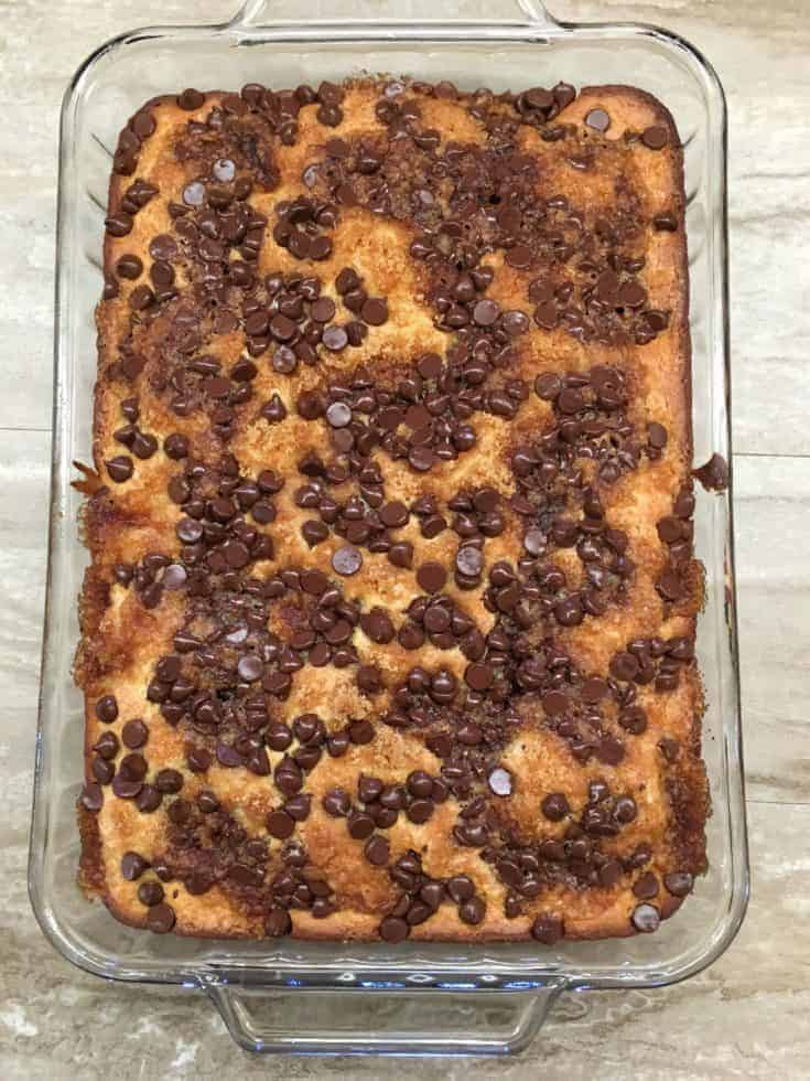 Easy Brown Sugar Chocolate Chip Cake takes the combination of a creamy pudding and a moist, fluffy cake. It's a delectable treat that adds the flavor of chocolate with a cooked crunch of brown sugar.