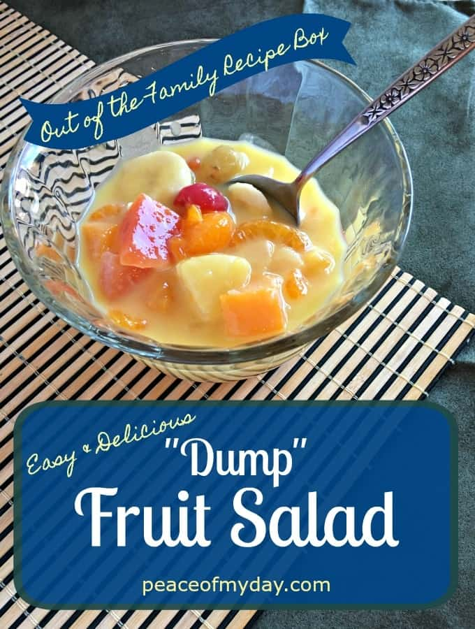 "Easy and Delicious ""Dump"" Fruit Salad - Peace of My Day"