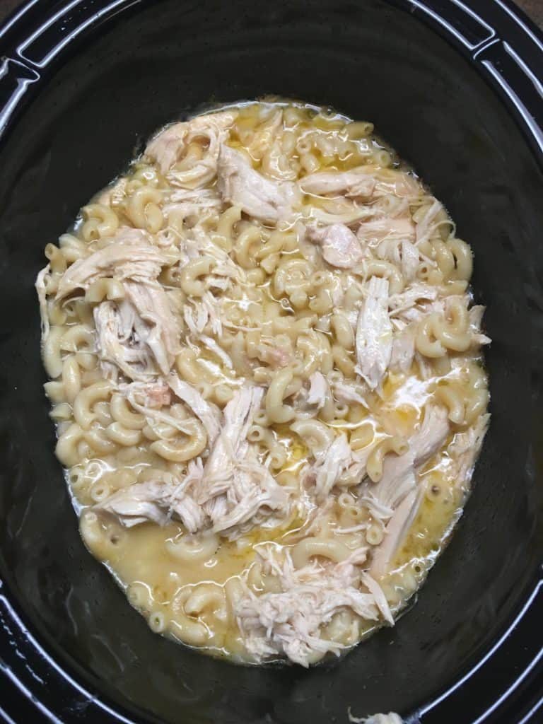 Creamy Chicken and Noodles is a great Crock Pot homemade recipe. The creamy chicken and noodle dish is buttery and a great budget-friendly supper.