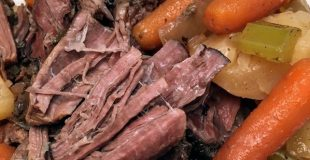 Slow Cooker Pot Roast is an easy recipe to fix for dinner. The delicious recipe, with plenty of seasoning, will feed a family of six with ease.