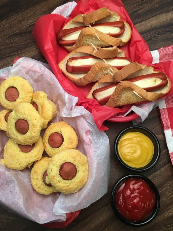 5 Hot Dog Recipes for Parties are the perfect appetizers for any gathering. The hot dog recipes work for football games, birthday parties, and any gathering where you want to offer budget-friendly foods and have something good to eat.