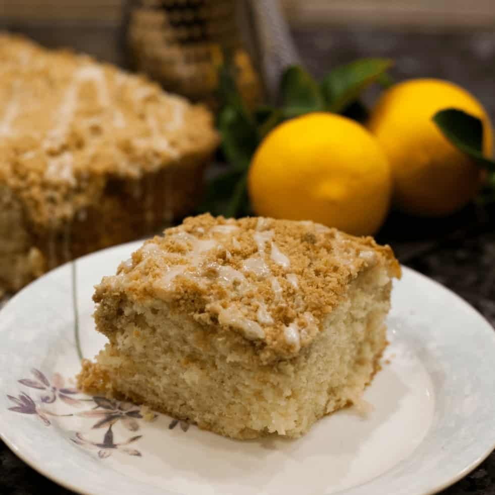 Lemon Crumble Coffee Cake - My Spaghetti Head