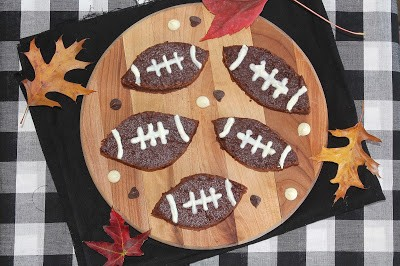 Greek Yogurt Football Brownies - Savory Moments