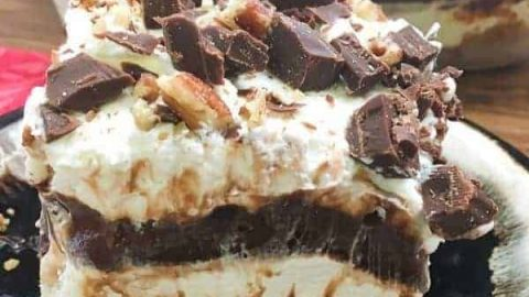 Chocolate Layer Dessert with Homemade Whipped Cream