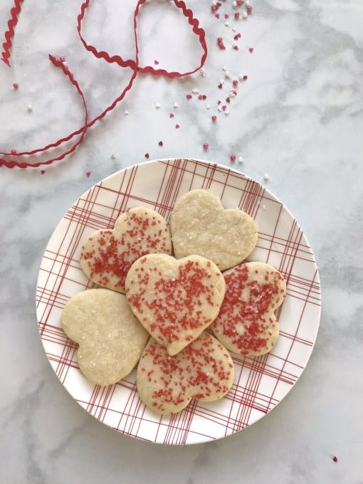 Perfect Valentines Heart Shortbread Cookie Recipe - Crafting A Family