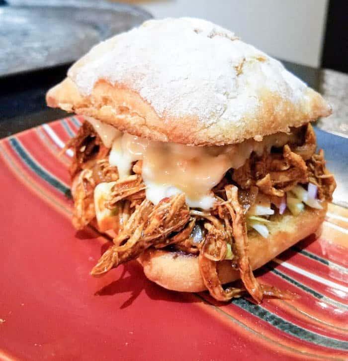 Spicy Shredded Chicken Sandwich - Chefing Around