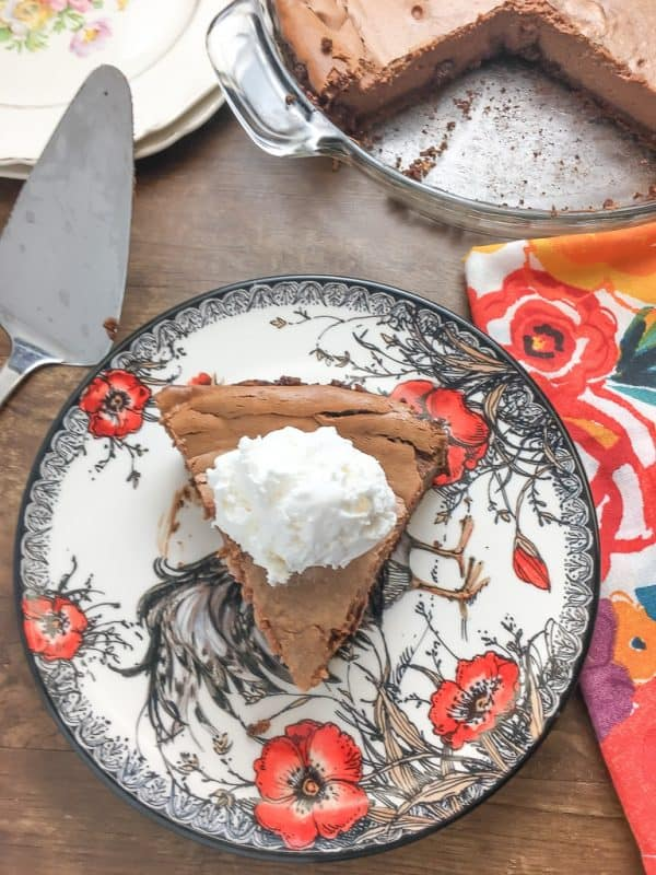 Sweetened Condensed Milk Chocolate Pie is an easy recipe that everyone will love. It's one of the best homemade desserts to take to a party, serve on a holiday, or share with family.