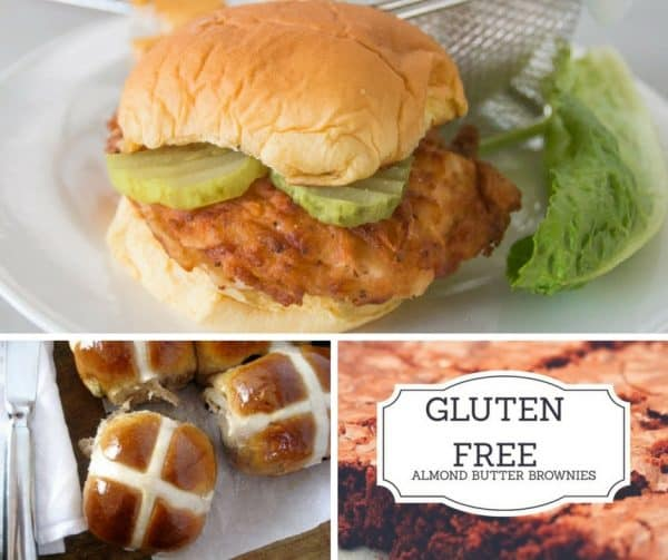 Gluten free almond butter brownies, Sous Vide Fried Chicken Chick-Fil-A Style, hot cross buns.
