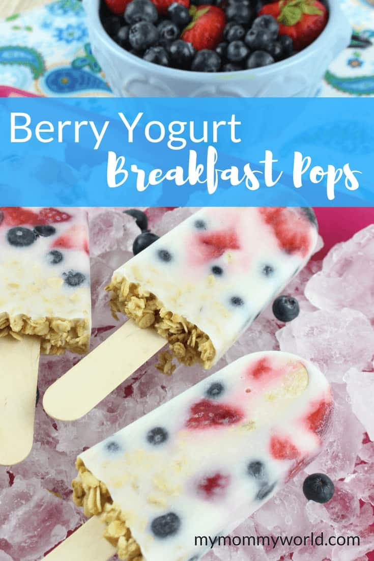 Berry Yogurt Breakfast Pops from My Mommy World
