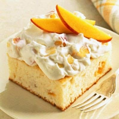 Peaches and Cream Cake from Poinsettia Drive