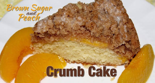 Brown Sugar Peach Crumb Cake - Living On Cloud Nine