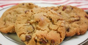Chocolate chip pecan cookies are an easy cookie recipe.