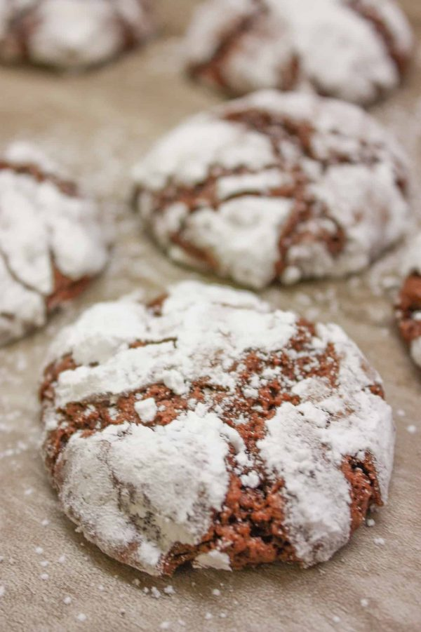 Chocolate Crinkle Cookies, from scratch, are a heavenly dessert.