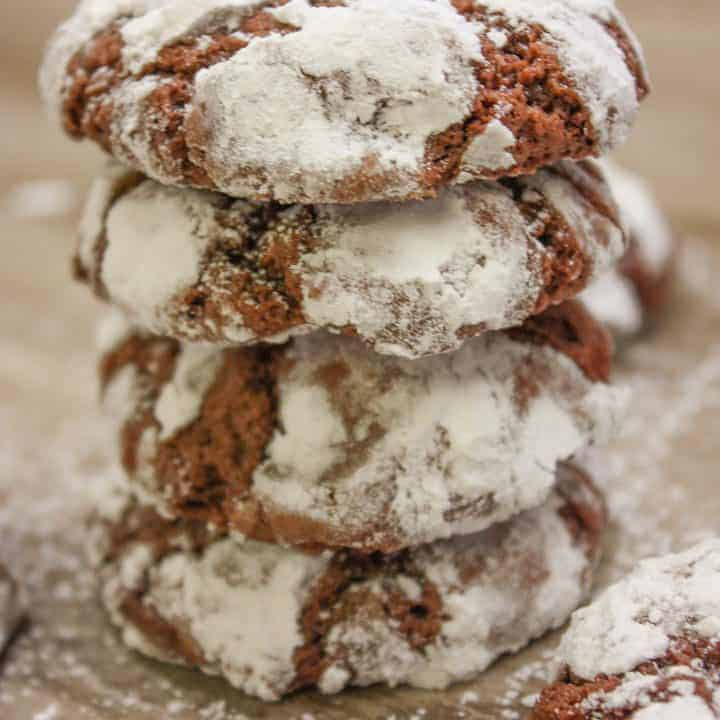 Chocolate Crinkle Cookies are a delicious treat for any holiday, including Christmas. These cookies are perfect for cookie exchange parties.