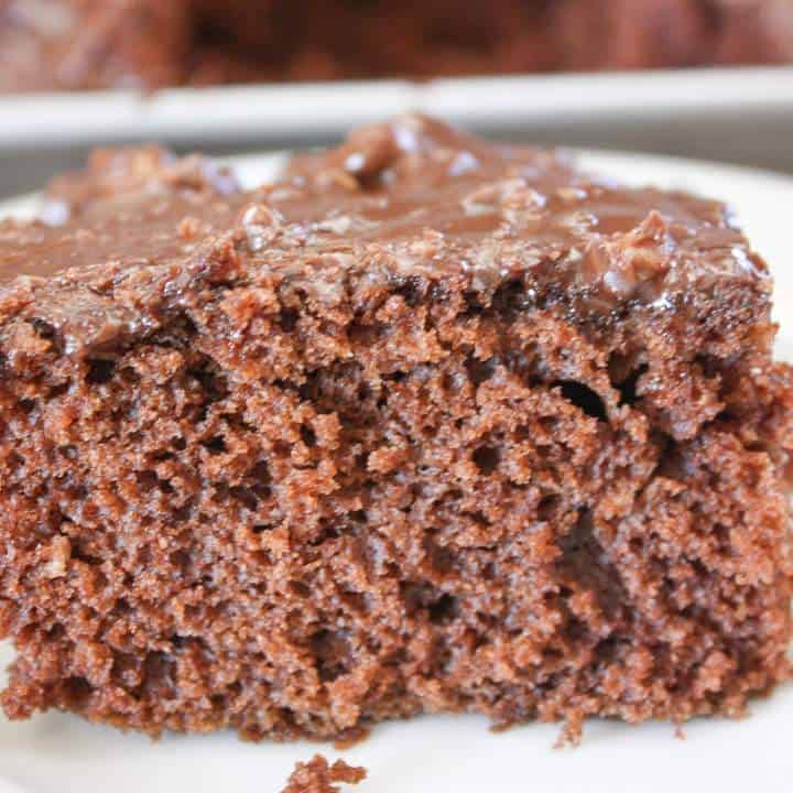 Texas chocolate sheet cake with buttermilk