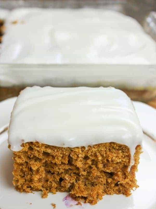 Pumpkin Bars with Cream Cheese Frosting is a delicious dessert for the winter holidays.
