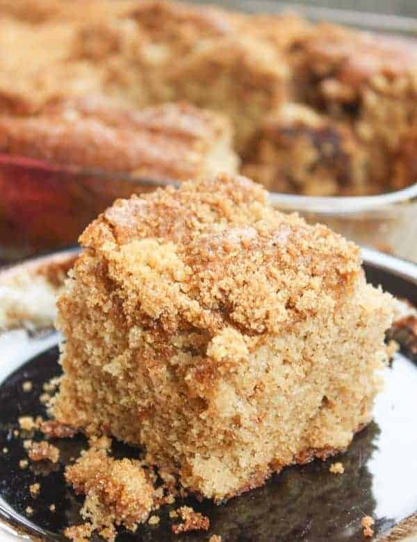 Cinnamon Coffee Cake is a delicious dessert. The cinnamon and nutmeg is the perfect way to start the fall season.