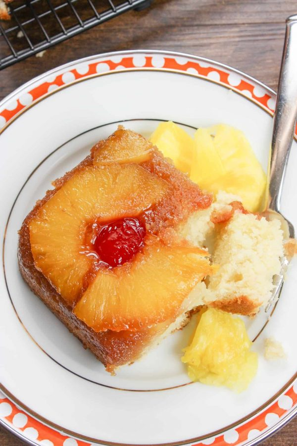 Pineapple upside down cake from scratch is an easy and delightful dessert.